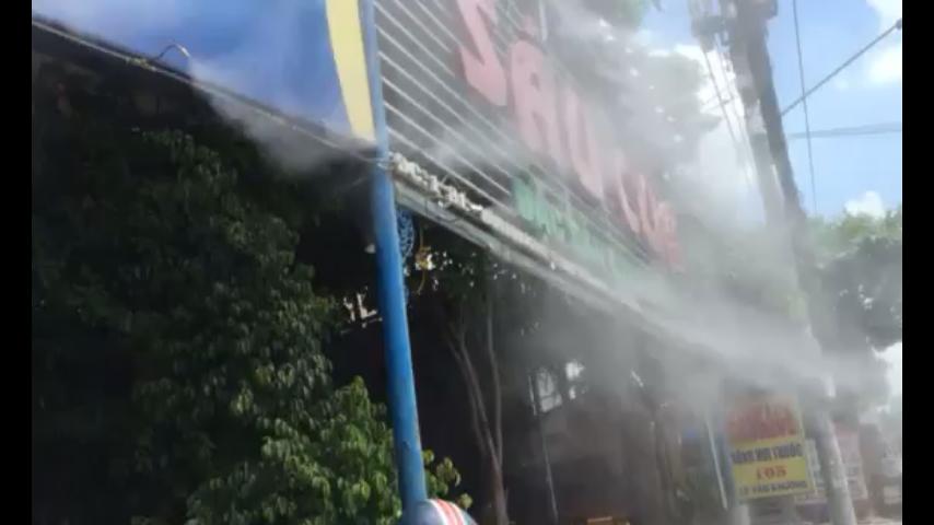 Dịch vụ lắp đặt máy phun sương nhà hàng ẩm thực Sầu Cua