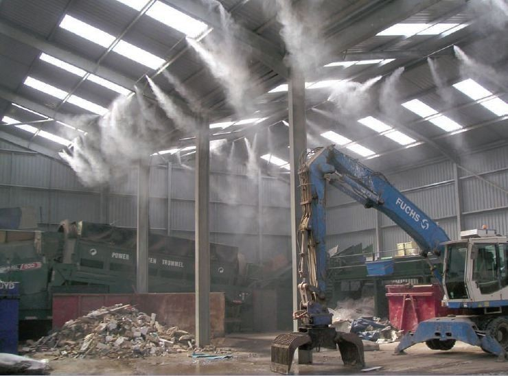 Lắp đặt hệ thống máy phun sương làm mát tại quận phú nhuận -tp.hcm