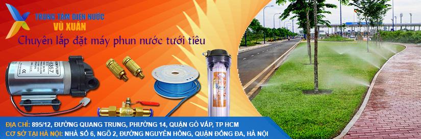 Lắp đặt hệ thống phun nước tự động  tại tp.hcm và các tỉnh lân cận