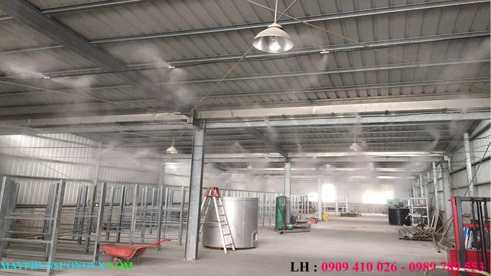 Lắp đặt máy phun sương nhà xưởng- Lắp máy phun sương nhà xưởng giá rẻ