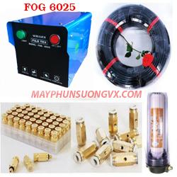 Trọn bộ máy phun sương FUJITEX 6025 – 20 béc phun đế đồng
