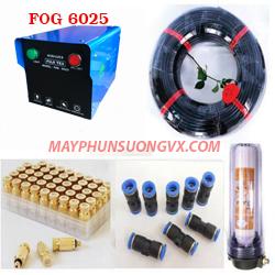 Trọn bộ máy phun sương FUJITEX 6025 – 20 béc phun đế nhựa