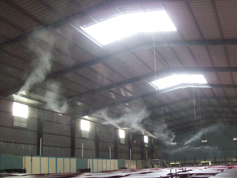 Lắp đặt hệ thống máy phun sương mái tôn tại quận 12