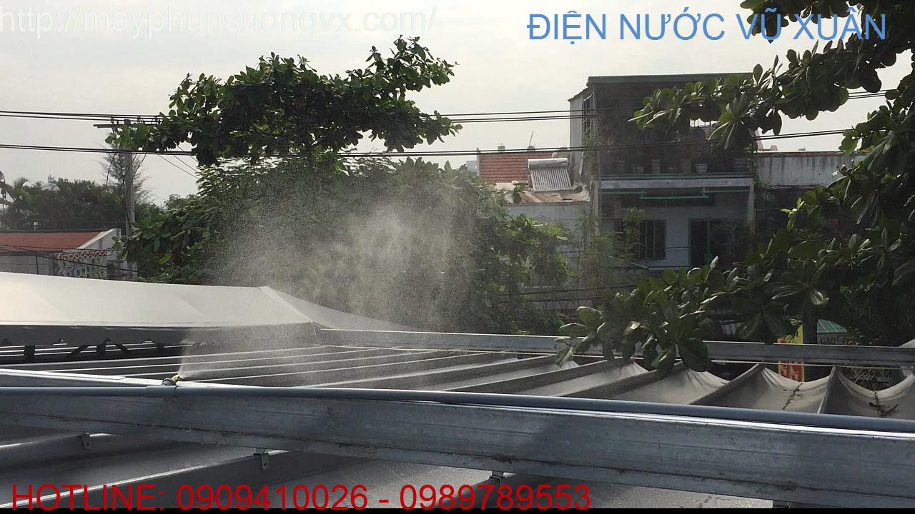 Lắp đặt hệ thống phun sương mái tôn nhà xưởng quận Bình Thạnh